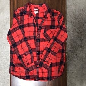 Target Merona Red Plaid Flannel